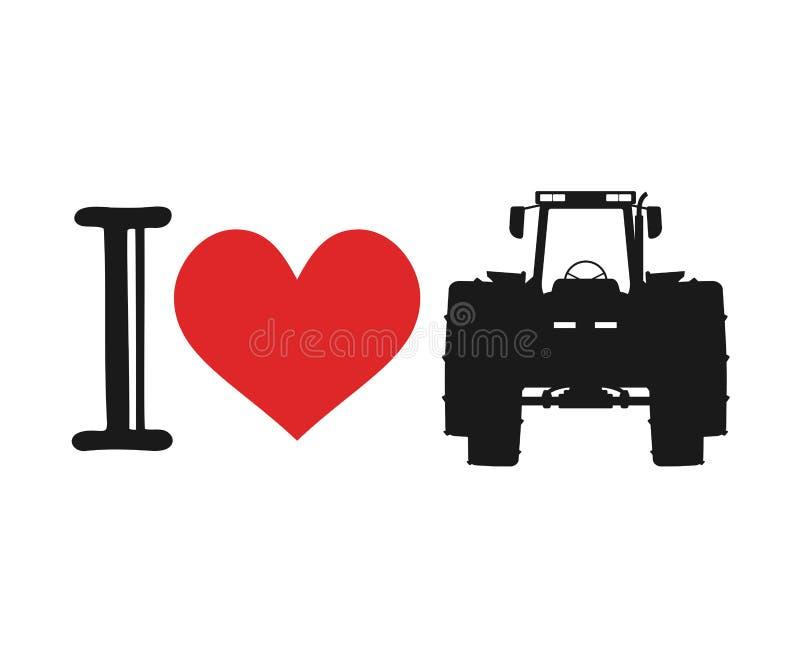 I love tractor symbol. Creative design of I love tractor symbol royalty free illustration
