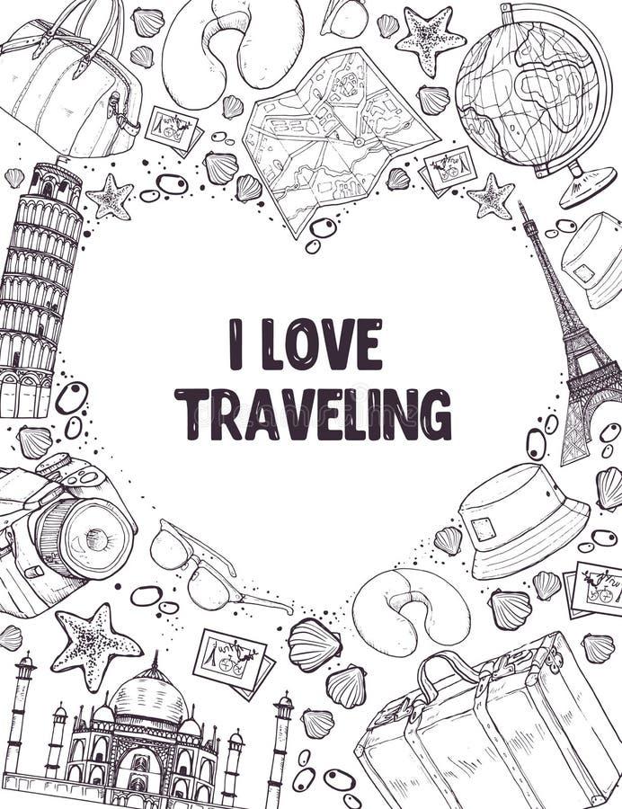 I love traveling poser royalty free illustration