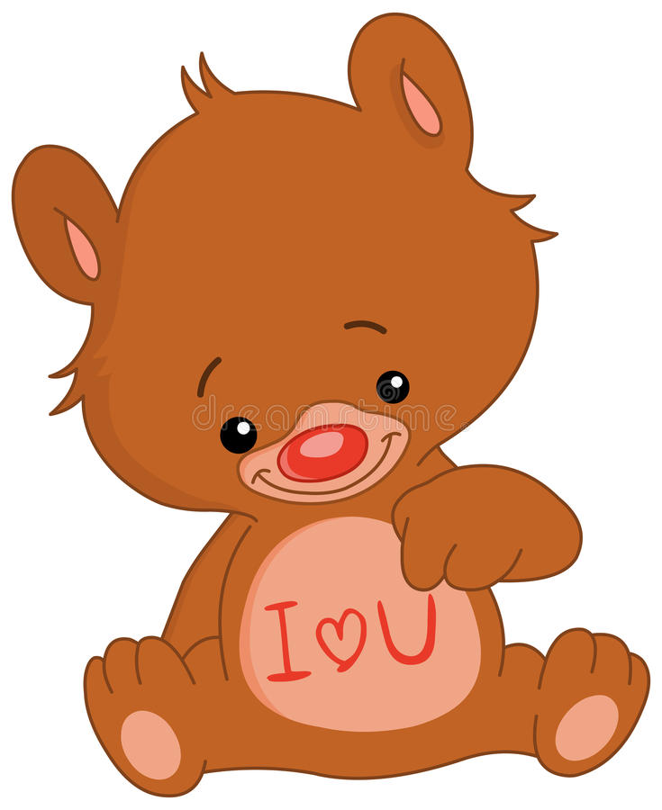 Download I love U bear stock vector. Illustration of painting - 12468999