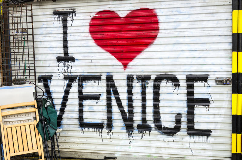 I love Venice Beach stock image