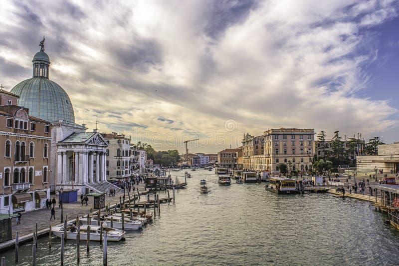I love Venice. Lansdscape of Venice from the `gli Scalzi` bridge royalty free stock photo