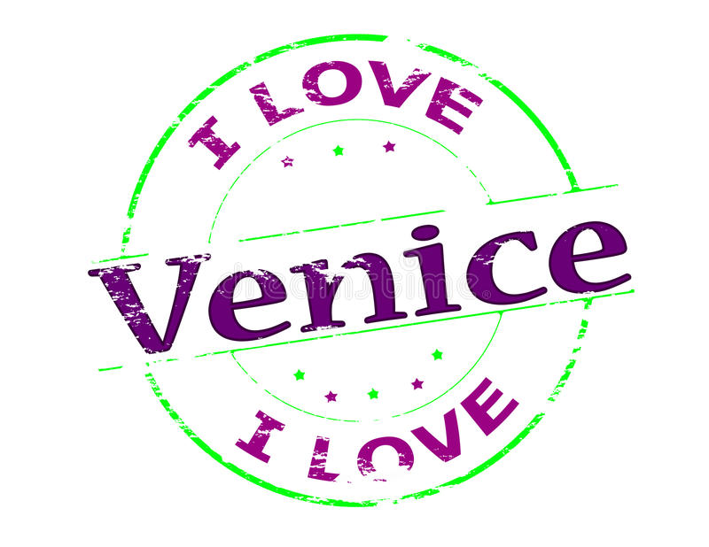 I love Venice. Rubber stamp with text i love Venice inside, vector illustration royalty free illustration