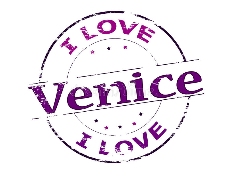 I love Venice. Rubber stamp with text I love Venice inside, vector illustration vector illustration