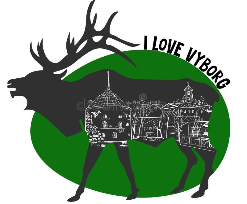 I love Vyborg stock images
