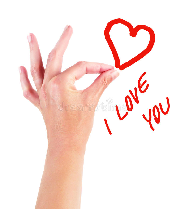 Download I love you stock image. Image of hand, drawing, dear - 16474583