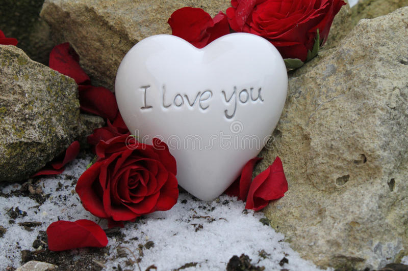 I love you. Heart with the inscription i love you royalty free stock photo