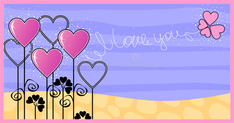 I love you stock illustration