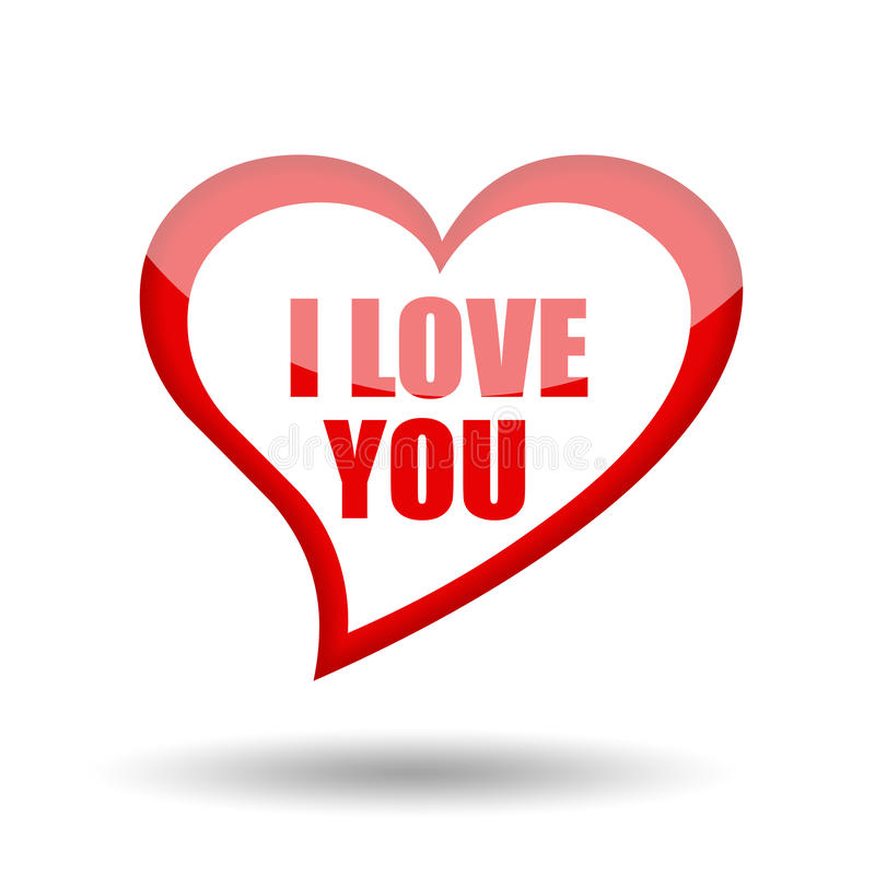 Download I love you stock illustration. Image of glossy, card - 24407378