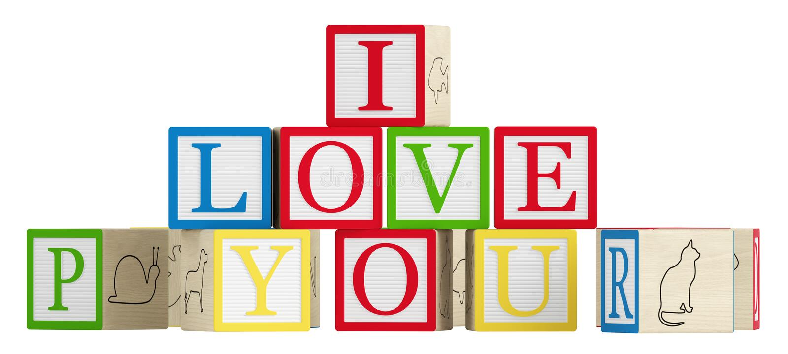 Download I Love You stock illustration. Illustration of communication - 26669443