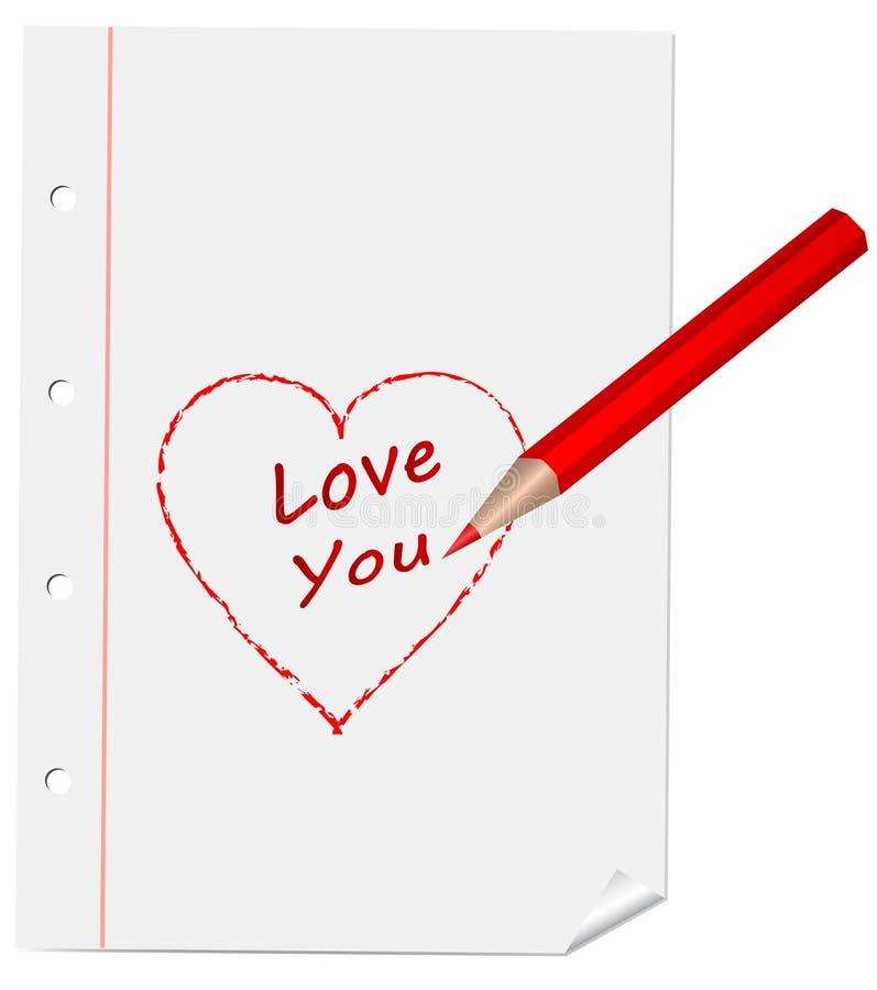 Download I love you stock vector. Illustration of inscription - 27674287