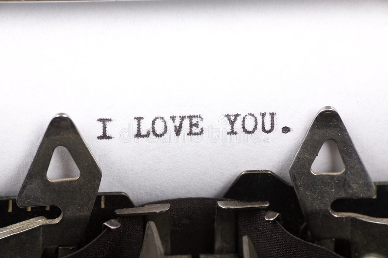 Download I Love You stock image. Image of paper, medium, word, valentine - 3466869