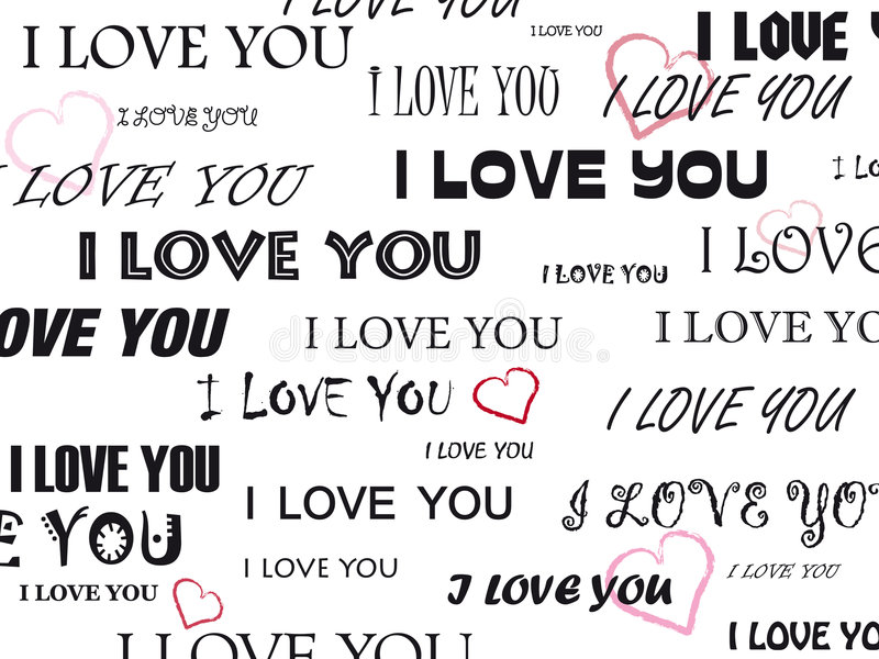 I love you royalty free illustration