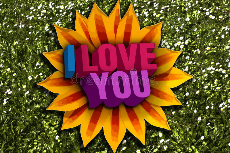 Download I love you stock image. Image of partner, kiss, grass - 8068863