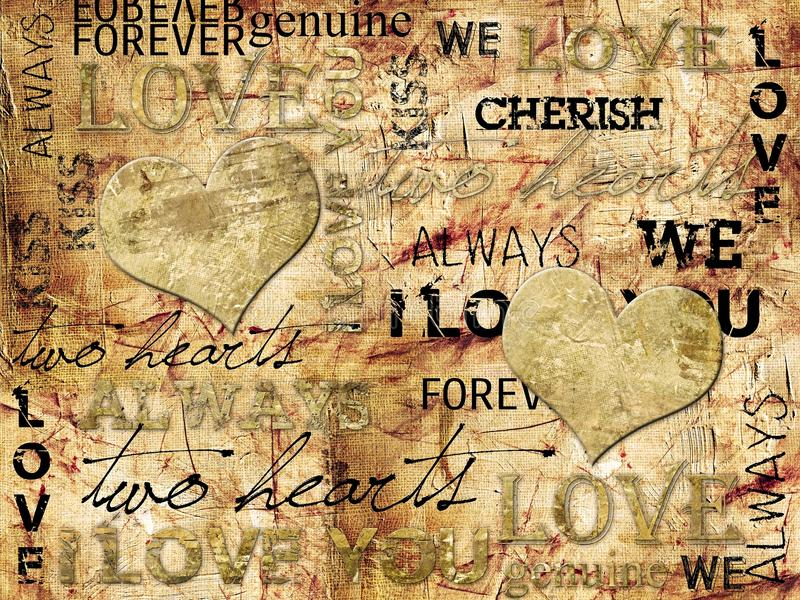 I LOVE YOU Background. Grunge texture usefull as background or texture stock photo