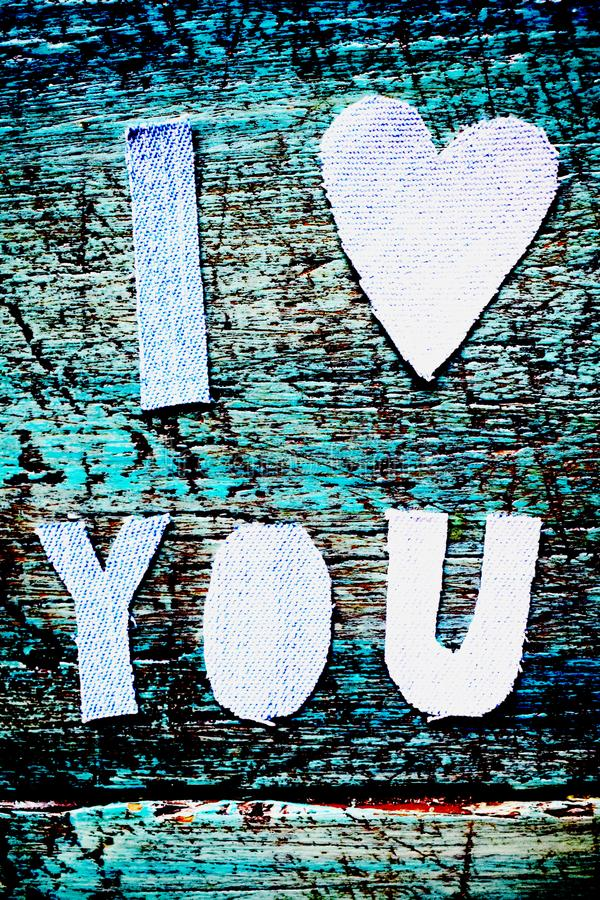 I LOVE YOU BLUE royalty free stock images