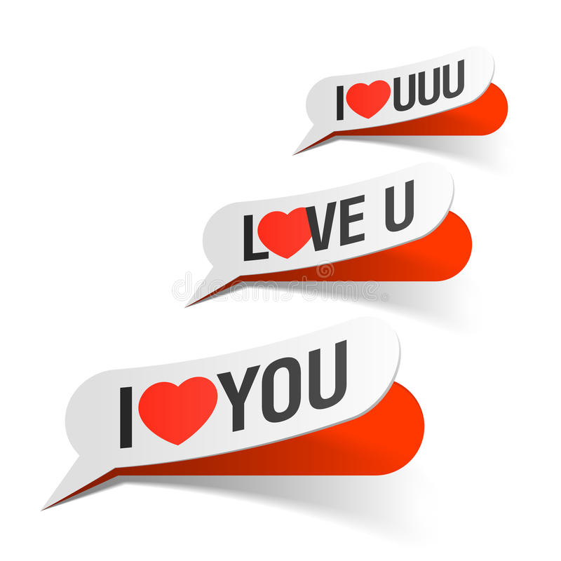 I Love You - Bubbles Royalty Free Stock Images