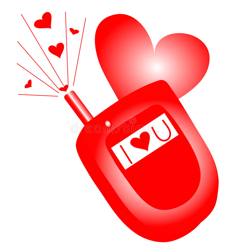 Download I Love you Cell Phone stock illustration. Image of favorites - 1453923