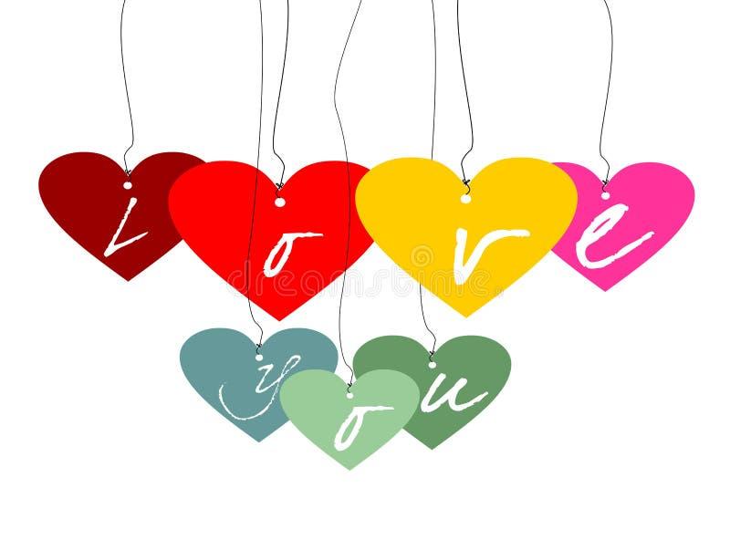 I love you ... in color vector illustration