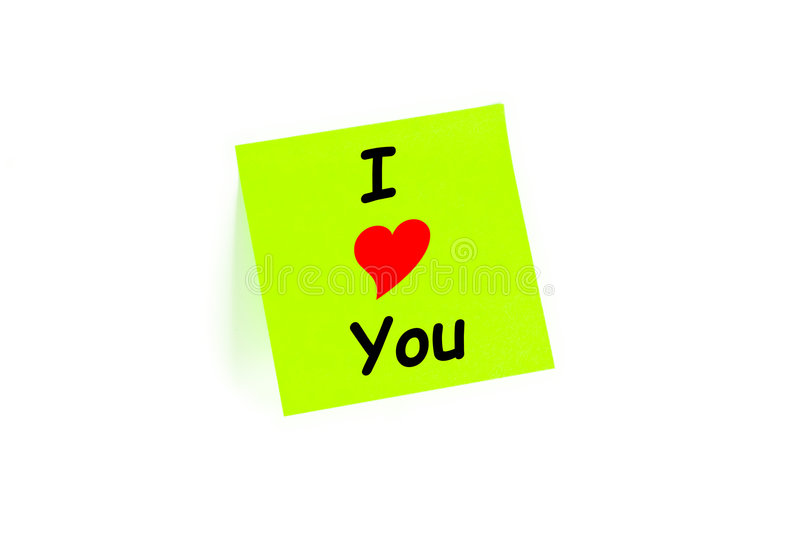 I Love You Concept On A Post-It Note