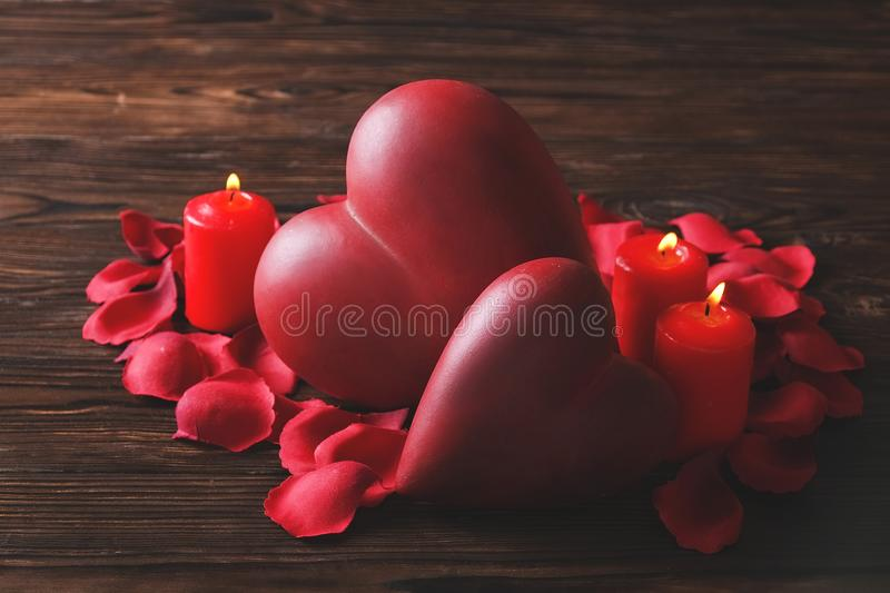 I love you candles stock image  Image of objects, vertical