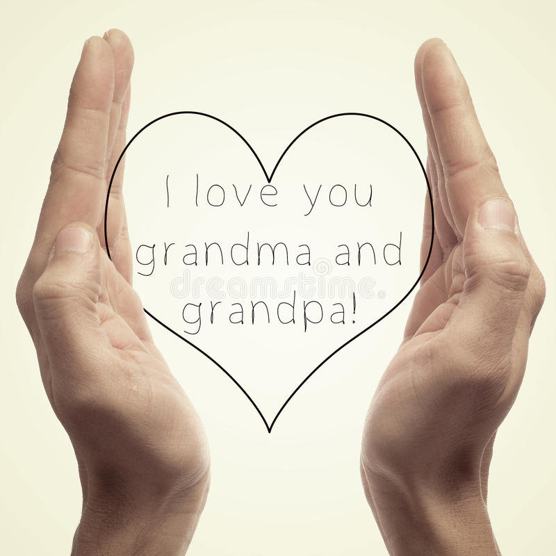 I love you grandma and grandpa royalty free stock photos