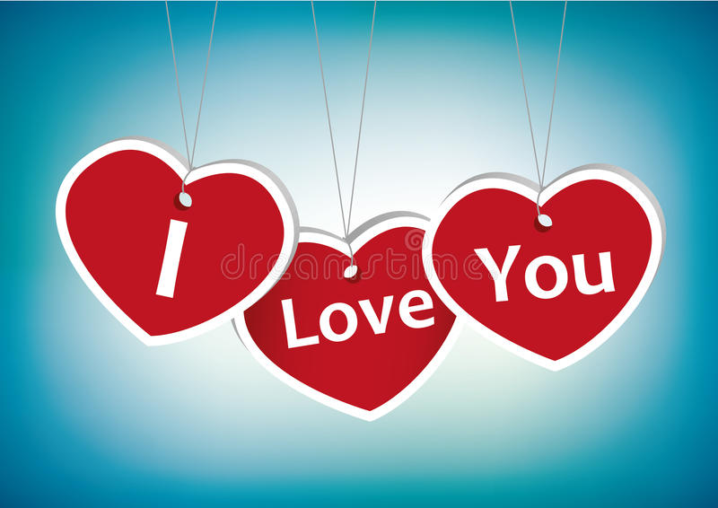 Download I love you greeting card stock vector. Image of happiness - 17800443