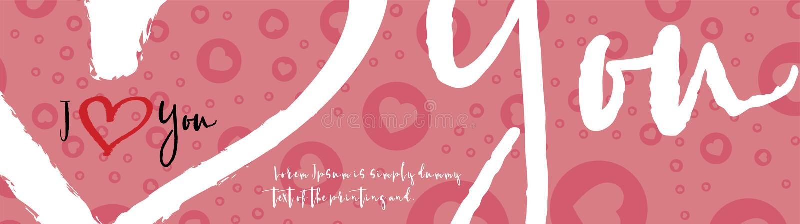 I love you greeting card. Flat illustration EPS 10 royalty free illustration