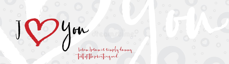 I love you greeting card. Flat illustration EPS 10 stock illustration