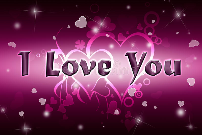 I love you. Greeting card Happy Valentine's Day. Red and pink background vector illustration