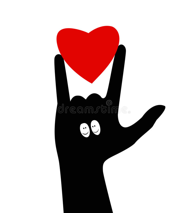I love you.Hand gesture vector illustration
