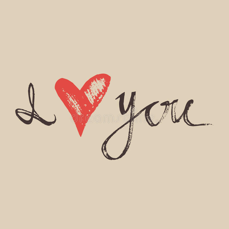 I love you hand lettering handmade calligraphy I love you calligraphy