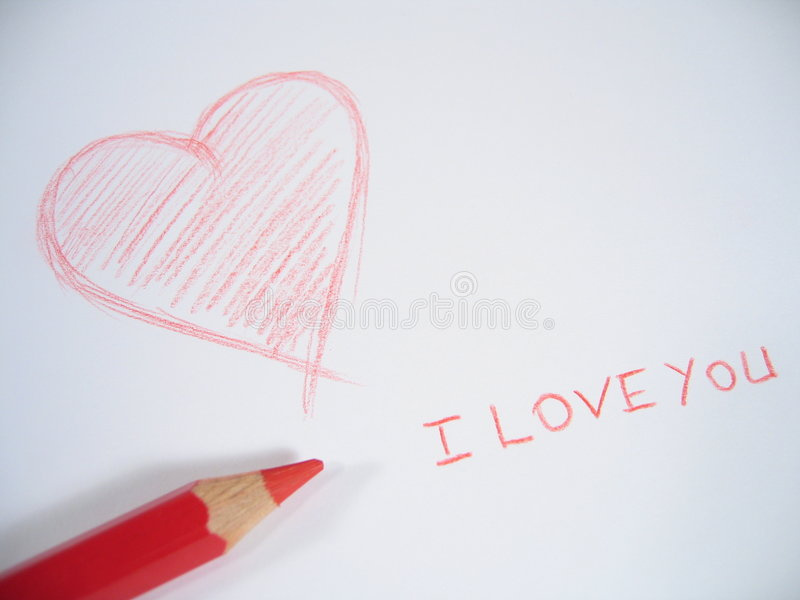 I Love You I stock photos