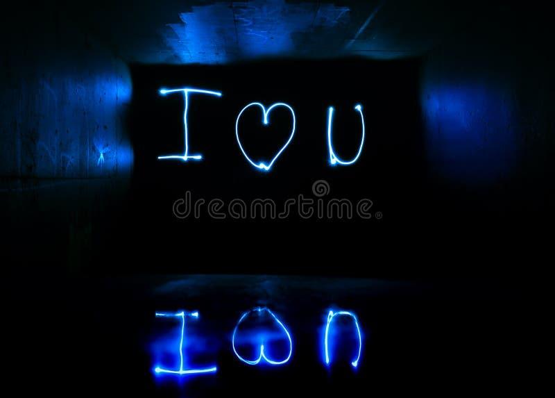I Love You Light Streaks royalty free stock photo