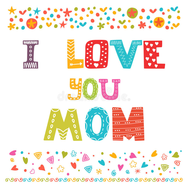 I love you mom cute greeting card happy mothers day concept stock download i love you mom cute greeting card happy mothers day concept stock vector m4hsunfo