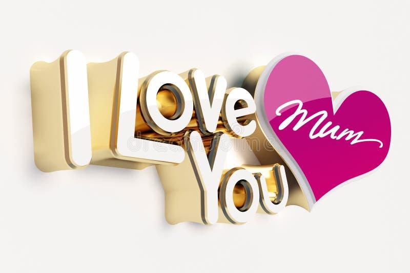 I Love You Imágenes De Stock I Love You Fotos De Stock: I Love You Mum Stock Illustration. Illustration Of