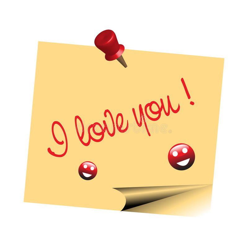 I love you note stock photography