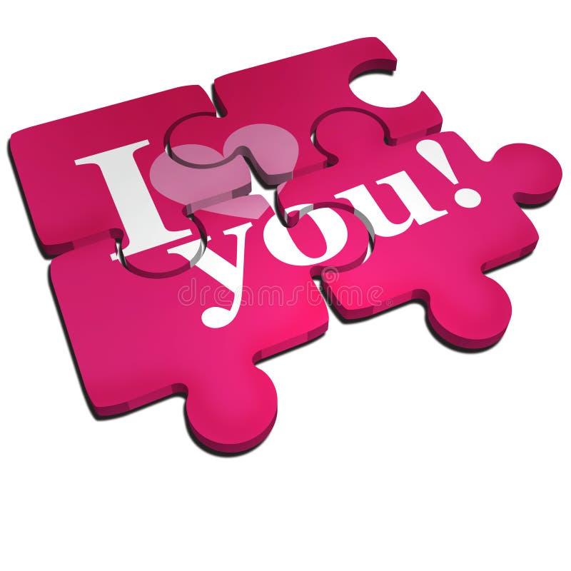 Download I love you puzzle stock illustration. Illustration of love - 12712923