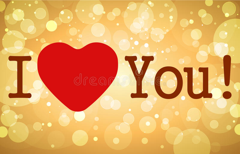 I love you. Red heart. royalty free illustration