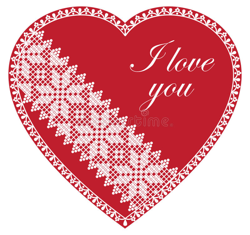 I Love You Red Heart stock photos