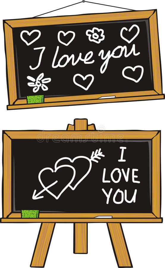 Download I love you - school love stock vector. Image of chalk - 22854458