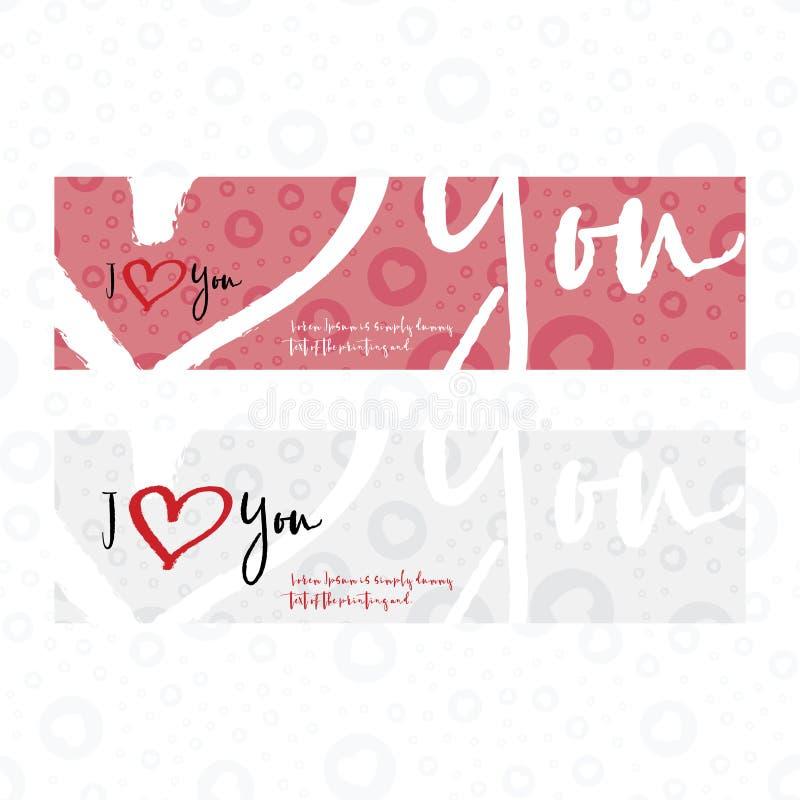I love you set greeting card. Flat illustration EPS 10 vector illustration