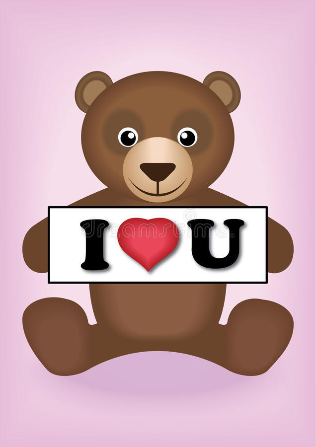 Download I love you stock image. Image of smiling, bear, pink - 35609099