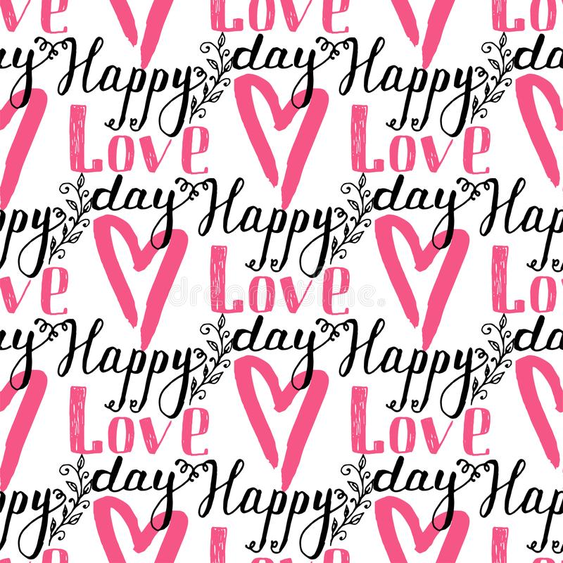 I Love You Text Heart Sharp Vector Seamless Pattern Background Pink