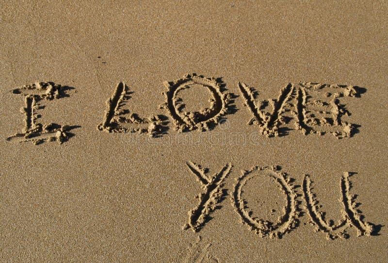 I Love You Imágenes De Stock I Love You Fotos De Stock: I Love You Written In Sand Royalty Free Stock Images