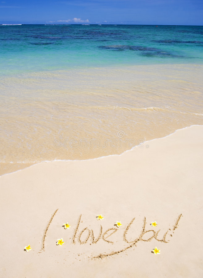 Download I Love You  Written On A Sandy Beach Stock Photos - Image: 8582883