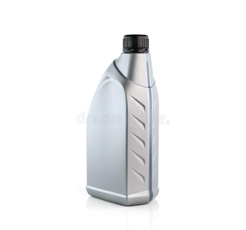 I lubrificanti imbottigliano isolato su fondo bianco fotografie stock