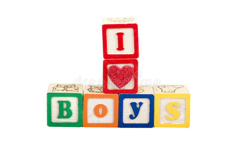 I luv boys royalty free stock photos