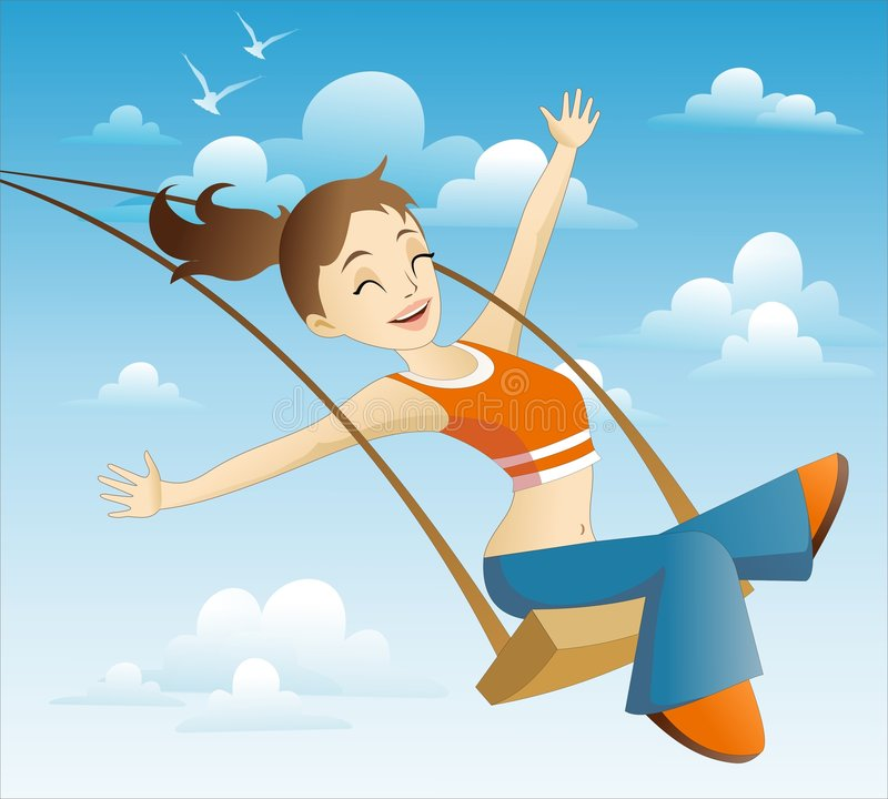 I'm flying! royalty free illustration