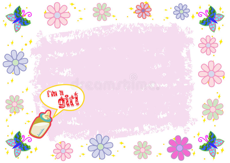 I'm a Girl Colorful Illustration stock photo