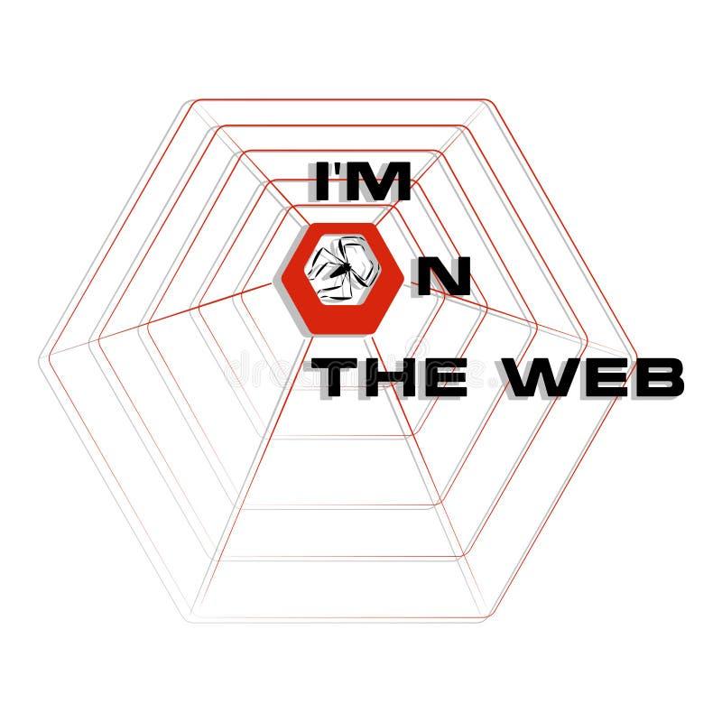 I ` m im Netz stock abbildung